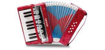 Bontempi Akkordeon mit 17 Tasten(C-E) und Halbtöne