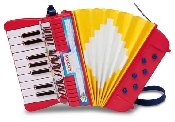 Bontempi Akkordeon mit 17 Tasten (C-E)