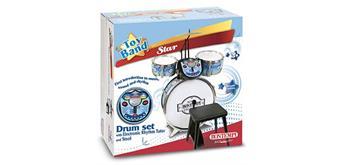 Bontempi Schlagzeug blau mit Elektronik Tutor 4-teilig blau