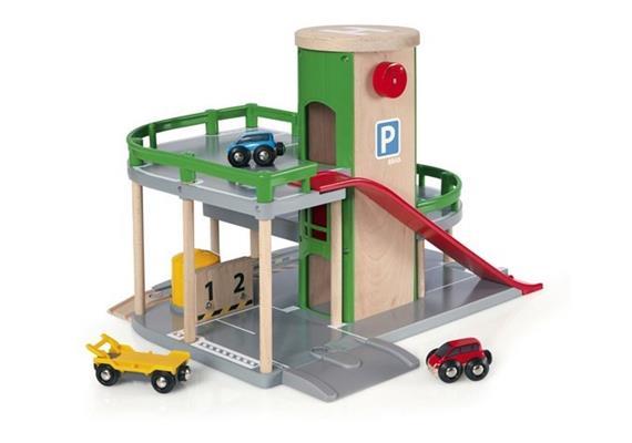 BRIO 33204 Parkhaus, Strassen und Schienen