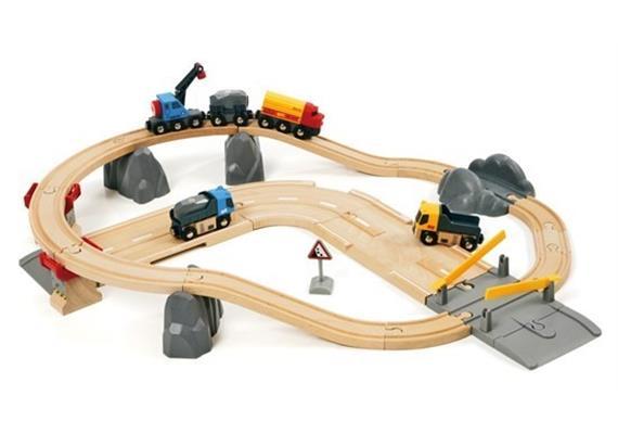 BRIO 33210 Bahn Set Strassen und Schienen