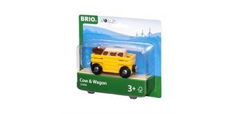 BRIO 33406 Tierwagen mit Kuh