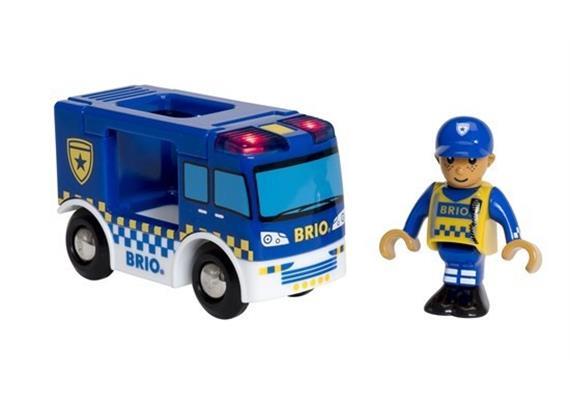 BRIO 33825 Polizeiwagen mit Licht und Sound