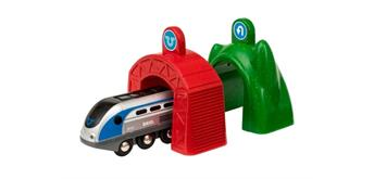 BRIO 33834 Smart Tech Zug mit Actiontunnel
