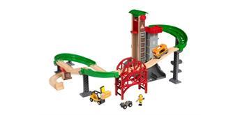 BRIO 33887 Grosses Lagerhaus-Set mit Aufzug