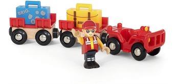 BRIO 33893 Flughafen Gepäckwagen