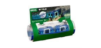 Brio 33970 - Brio Tunnel Set mit 2 U-Bahn Wagons