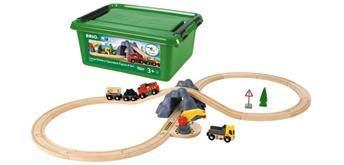 BRIO 33983 Bahn Acht Tunnel Set m. Batterielok