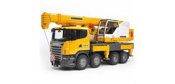 Bruder 03570 Scania R-Serie Liebherr Kran-LKW mit Licht und Sound