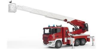 Bruder 03590 Scania Feuerwehrleiterwagen plus Licht und Sound Module