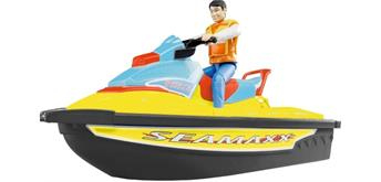 Bruder 09042 Personal Watercraft mit Fahrer Summer Edition