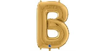 Buchstaben-Folienballon - B in gold ohne Füllung
