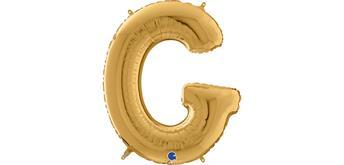 Buchstaben-Folienballon - G in gold ohne Füllung