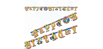 Buchstaben-Kette HAPPY BIRTHDAY Piraten-Party 210 cm