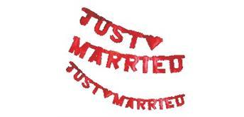"Buchstaben-Kette ""Just married"" rot, 170 cm"