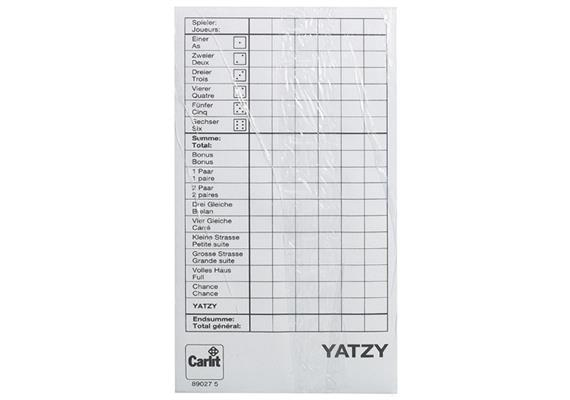 Carlit 3 Yatzy-Blöcke