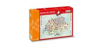 carta.media Kantone der Schweiz - Puzzle 200 Teile