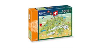 carta.media Puzzle Illustrierte Schweizerkarte