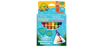 Crayola 16 Dreieck-Wachsmalstifte - 1+