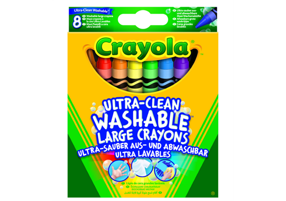 Crayola 8 Auswaschb. Wachsmalstifte - 3+