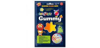 CrazyClay Gummy Einzelfarben Thermoknete orange
