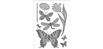 """Crystal Art A5 Stamp """"Butterfly Blooms"""""""