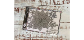 """Crystal Art A5 Stamp """"Radiant Poinsettia"""""""