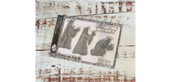 "Crystal Art A5 Stamp ""We Three Kings"""
