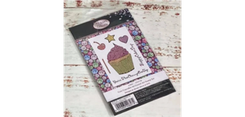 """Crystal Art A6 Stamp """"Cute Cupcakes"""""""