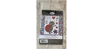 "Crystal Art A6 Stamp ""Love Bug Ladybird"""
