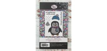 """Crystal Art A6 Stamp """"Playful Penguin"""""""