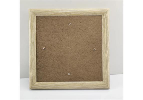 Crystal Art Bilderrahmen Holzeffekt 21 x 21 cm