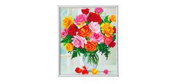 "Crystal Art ""Blumen"" Bilderrahmen 21 x 25 cm"