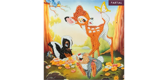 Crystal Art Card Bambi and Friends 18 x 18 cm
