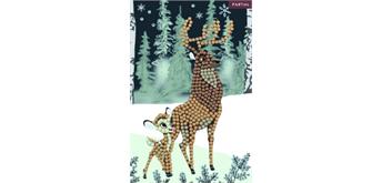 Crystal Art Card Bambi and Son, 10 x 15 cm