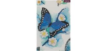 Crystal Art Card Blue Butterfly 10 x 15 cm