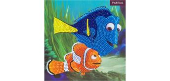 Crystal Art Card Dory and Marlin 18 x 18 cm