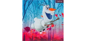 Crystal Art Card Floating Olaf 18 x 18 cm