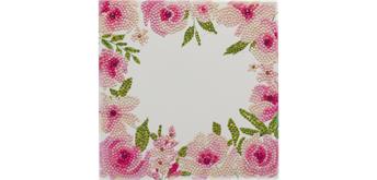 Crystal Art Card Floral Border 18 x 18 cm