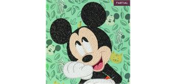 Crystal Art Card Happy Mickey 18 x 18 cm