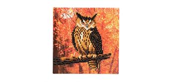 """Crystal Art Card Kit """"Autumn Owl"""" 18 x 18 cm"""