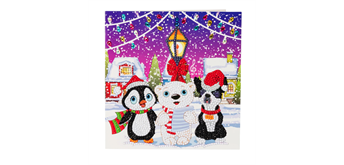 "Crystal Art Card Kit ""Carol Singers"" 18 x 18 cm"