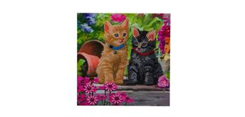 "Crystal Art Card Kit ""Cat Friends"" 18 x 18 cm"