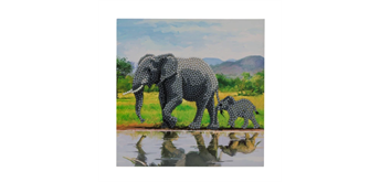 "Crystal Art Card Kit ""Elephant"" 18 x 18 cm"
