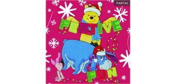 "Crystal Art Card Kit ""Festive Winnie the Pooh"" 18 x 18 cm"