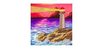 """Crystal Art Card Kit """"Lighthouse"""" 18 x 18 cm"""