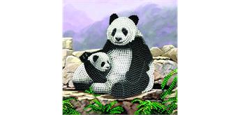 "Crystal Art Card Kit ""Panda"" 18 x 18 cm"