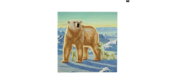 "Crystal Art Card Kit ""Polar Family"" 18 x 18 cm"