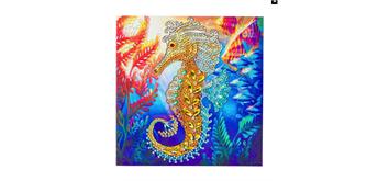 "Crystal Art Card Kit ""Seahorse"" 18 x 18 cm"