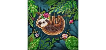 "Crystal Art Card Kit ""Sloth"" 18 x 18 cm"